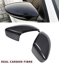 VW BETTLE PASSAT CC EOS REPLACEMENT WING MIRROR COVER PAIR REAL CARBON FIBRE
