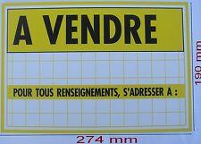 Panneau ,Adhésif ou à Visser Signalisation en PVC,,274 x 190 mm, A VENDRE