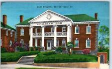 BEAVER FALLS, Pennsylvania  PA    ELKS BUILDING   ca 1940s Linen  Postcard