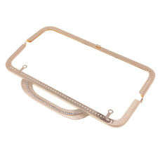 25cm Metal Frame Kiss Clasp Lock with Handle for Purse Bag Accessories Gold