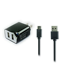 2.1A Wall AC Home Charger+USB Cable Cord for Sprint LG Rumor Reflex S LN272S