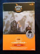 Halloween LED Lightshow White ShadowLight Ghost Projection Light Bulb NIB