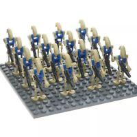 16x Blue Battle Droid Figures (LEGO STAR WARS Compatible)