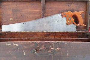 FRESHLY SHARPENED DISSTON D-8 Carpentry Handsaw 26 inch 8 Point  XCUT 1930s