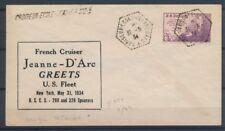 1934 Env. 3c USA Obl. CROISEUR-ECOLE-JEANNE-D'ARC + linéaire, Sup. X1468