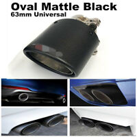 Real Carbon Fiber Auto SUV Exhaust Pipe Muffler End Tips For Car 63mm-89mm Matte