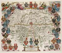 MAP ANTIQUE BLAEU FRANKFURT AM MAIN PLAN OLD LARGE REPLICA POSTER PRINT PAM0570