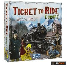 Ticket To Ride EUROPE Board Game By Days of Wonder 2-5 Player Train Adventure