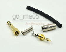silver 1/8 3.5mm Male Jack Adapter Plug Stereo Audio Connector 3.5 to 6.5mm plug