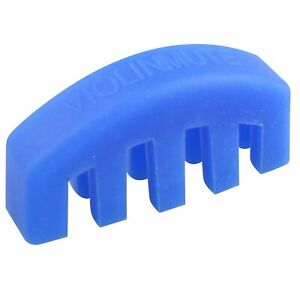 AKORD Rubber 4/4 Practice Mute for Violin - Blue