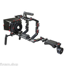 New Filmcity Shoulder Rig Power Kit Video MatteBox Cage for DSLR Sony Camera