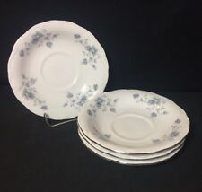 4 Johann Haviland Blue Garland Bavaria Germany Saucers