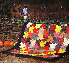 1920s AUTUMN LEAVES VINTAGE QUILT PATTERN FALLING MAPLE LEAF FALL BARN-RAISING