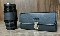 Sigma Zoom AF 1:4.5-5.6 F=75-300MM with Case UV filter hood for Minolta Maxxum