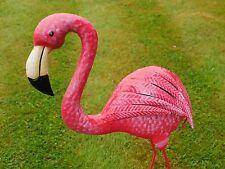 Large Ornate Pink Metal Flamingo Garden Pond Ornament Statue Sculpture Home