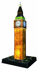 BIG BEN BUILDING NIGHT EDITION 216 PIECE RAVENSBURGER 3D JIGSAW PUZZLE