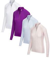 Greg Norman Womens Long Sleeve Tonal Placement Print Polo Golf Shirt - New 2020