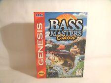 Bass Masters Classic -Sega Genesis Art Work Sleeve Only! *original Sega*