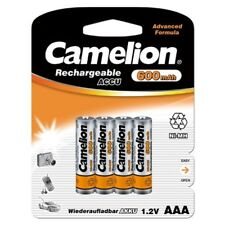 4x Akku 1,2V 600mAh Micro AAA HR03 NiMH für Telefon Accu aufladbar von Camelion