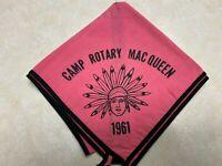 1961 Camp Rotary Macqueen Neckerchief