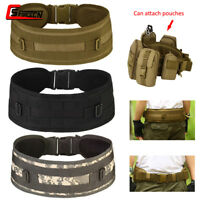 Tactical Molle Belt Military Battle Combat Duty Waist Padded Belt Webbing Nylon