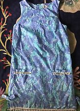 EUC Lilly Pulitzer CLASSIC SHIFT DRESS blue CHOW WAGON giraffes lions monkeys 6