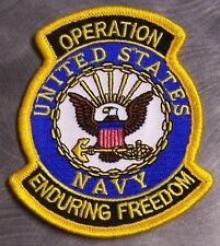 Embroidered Patch Gulf War Operation Enduring Freedom Navy Emblem NEW