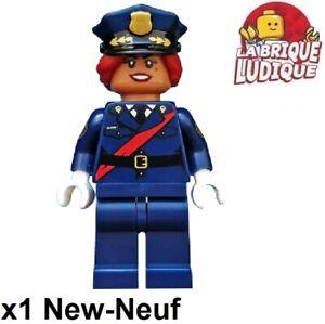 Lego Figurine Minifig batman movie Barbara Gordon police femme coltlbm06 NEUF
