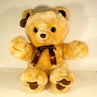 "1992 Cuddle Wit 13""  Bear Plush Brown Tan Teddy Stuffed Plush with Tag"