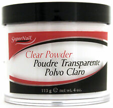 SUPERNAIL ACRYLIC NAIL POWDER CLEAR PINK WHITE (CHOOSE COLOR AND SIZE)