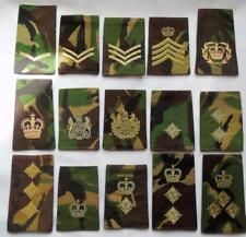Collection of 15 British Army Rank Slides Lance Corporal - Brigadier