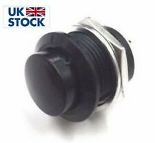 1 pcs 16mm Round Metal Push Button Momentary Switch Black