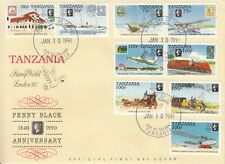 1990 Tanzania London 90 Penny Black Stamps on stamps First Day Cover