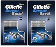 Gillette Sensor Excel Razor Blades - 25 Cartridges (2 Pack)