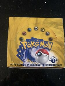 Pokemon 1st Edition Base Set Box Empty GERMAN Good Condition