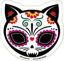 15893 Gato Muerto Sugar Skull Cat Evilkid Art Kitty Transparent Sticker / Decal