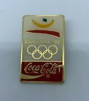 Vintage 1992 Coca Cola Sponsor Olympics Pin Barcelona Trading Collectible