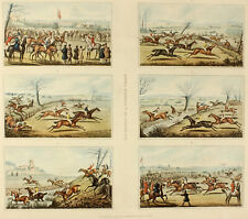 c1830 Alken | Six Points of a Steeple Chase | 6 fine h/c aquatints on one sheet