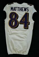 #84 Chris Matthews of Ravens NFL Game Issued Player Worn Jersey - BR 1750
