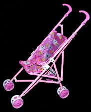 Kinder Puppenwagen Buggy Puppenzubehör für Puppen oder Stofftiere Rosa Neu