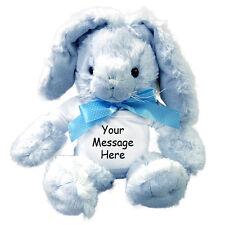 """Personalized Stuffed Rabbit - 12"""" Blue Unipak Plush Bunny"""