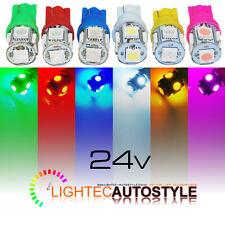 24 VOLT 24V LED 501 T10 W5W HGV TRUCK LORRY SIDELIGHT MARKER BULBS 6000K CAPLESS