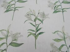 Sanderson Curtain Fabric 'LUCIA' 2 METRES (200cm) Silver - 100% Linen