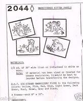 Mail Order Transfer Pattern Kitten Kitty CAT Panels 1960's Vintage ORIGINAL 2044