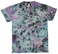 Purple Blue Rainbow TIE DYE T SHIRT Fashion Tye Die Tshirt Festival Retro Tee
