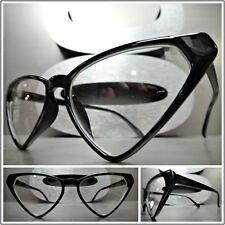 Women's CLASSIC VINTAGE Funky RETRO CAT EYE Style EYE GLASSES Unique Black Frame