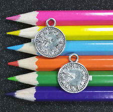 10 PCS - Clock Pocket Watch Silver Charm Pendant C1056