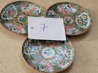 Chinese Porcelain Famille-Rose Set of 3 Shallow Bowls or Plates 6 1/8'' W
