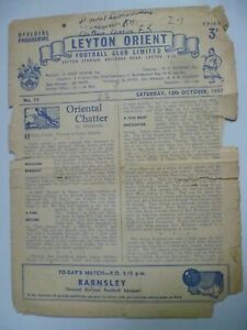 1957 Leyton Orient v Barnsley 12th October
