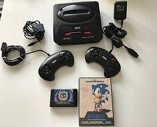 Sega Mega Drive 2 Konsole - 2 org. Controller + 2 Spiele